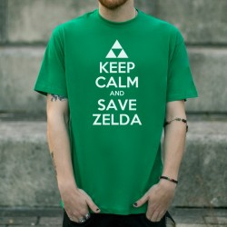 Camiseta Unisex KEEP CALM AND SAVE ZELDA