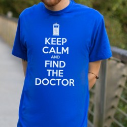 Camiseta Unisex KEEP CALM AND FIND THE DOCTOR