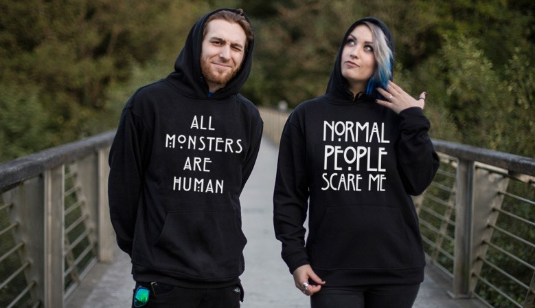 Sudadera All Monsters Are Human y Normal People Scare me